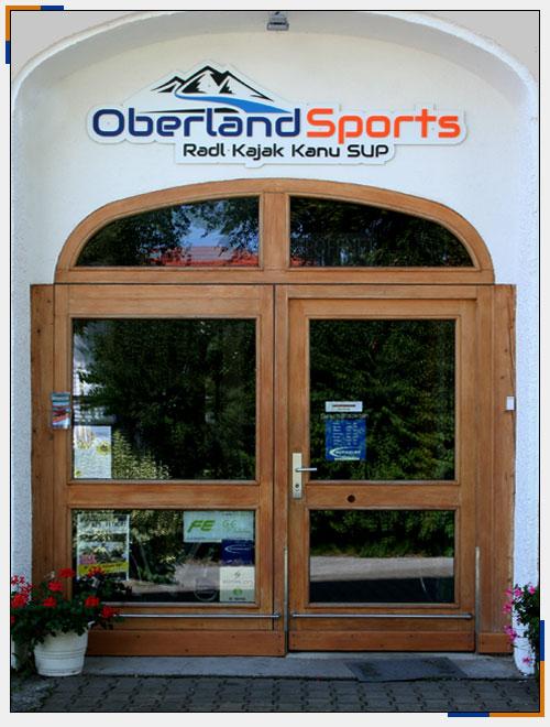 Oberland Sports in Murnau - Fahrrad, Kajak, Kanu und Stand Up Paddling